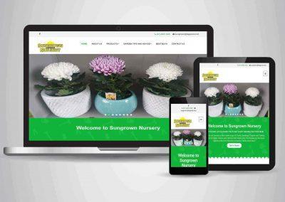 Sun Grown Nursery - Website Designer Toowoomba Portfolio